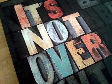 it's not over custom canvas frame 01