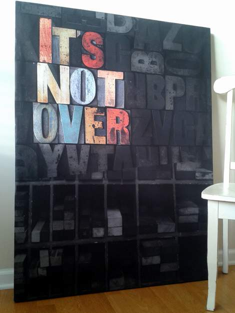 it's not over custom canvas frame 15
