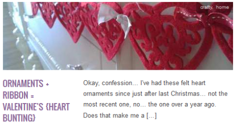 LINK Ornaments Ribbon Valentine's {heart bunting}