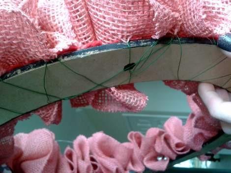pink burlap wreath 08
