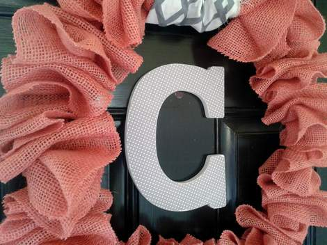 pink burlap wreath 11'