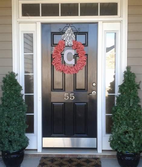pink burlap wreath 14