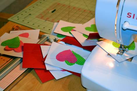sewn heart valentine sewing
