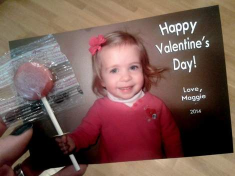 trompe l'oeil lollypop photo valentine