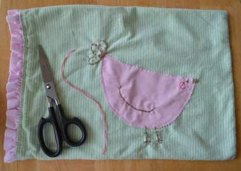 bird embroidered pillow 10