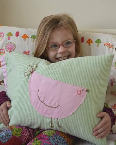 bird embroidered pillow 13