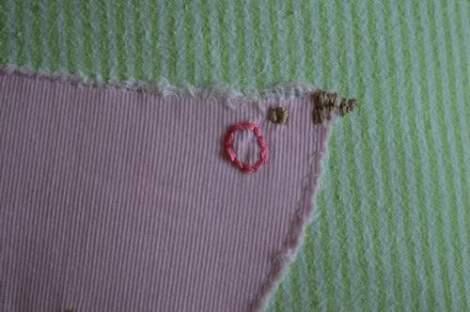 bird embroidered pillow 21'