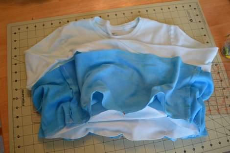 blue ombre ruffled tshirt 12
