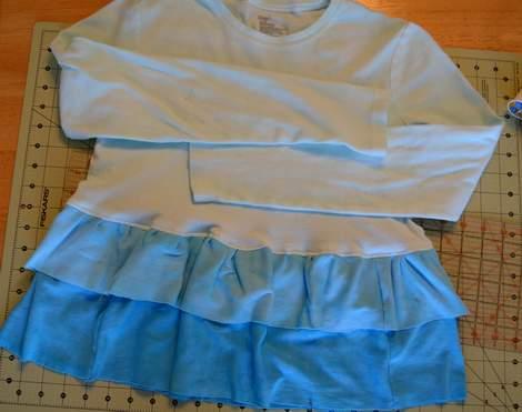 blue ombre ruffled tshirt 13