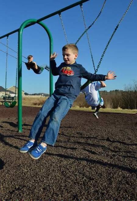 jumping off swings lil bro jumping