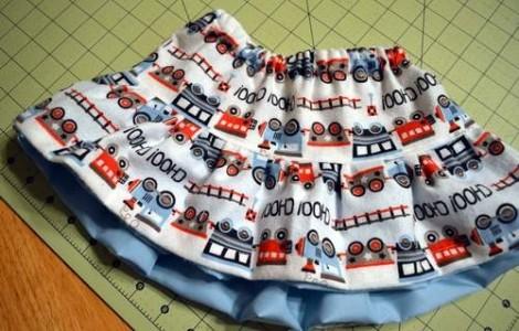 train peek-a-boo ruffles skirt 13