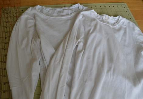 white t-shirt ruffle refashion 02