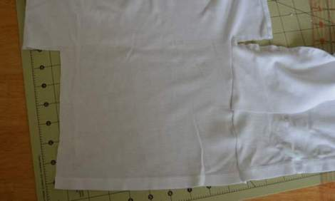 white t-shirt ruffle refashion 15
