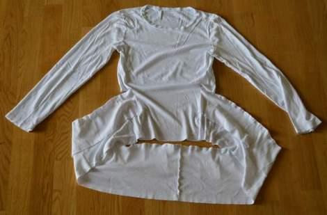 white t-shirt ruffle refashion 16