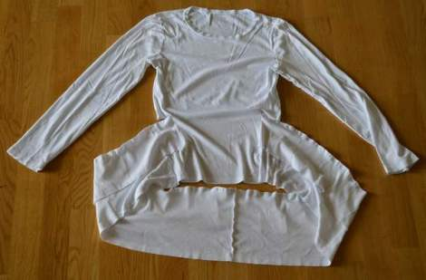 white t-shirt ruffle refashion 16