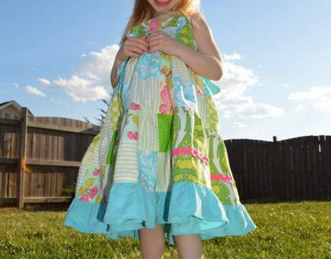patchwork twirl dress 26