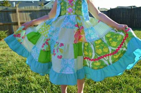 patchwork twirl dress 28