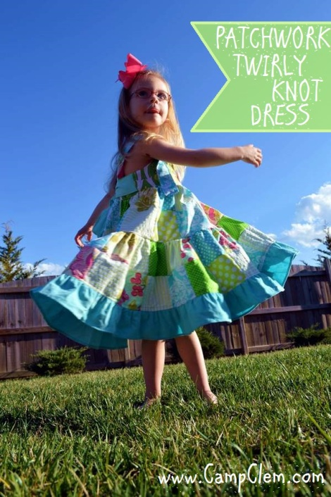 patchwork twirl dress 29'