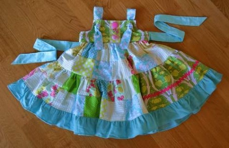 patchwork twirl dress 30