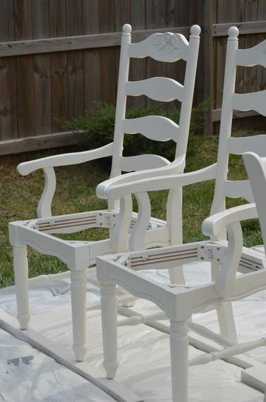 kitchen chairs makeover 01