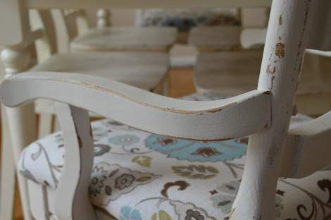 kitchen chairs makeover 23