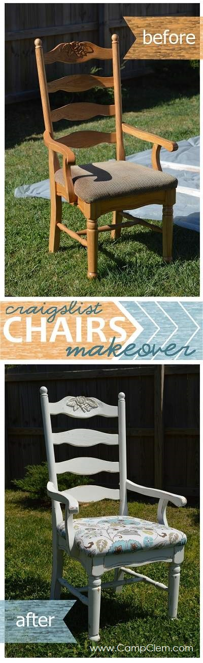kitchen chairs makeover before and after