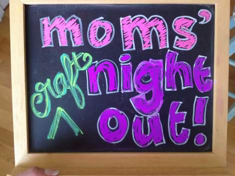 moms' night out pinterest craft party 001