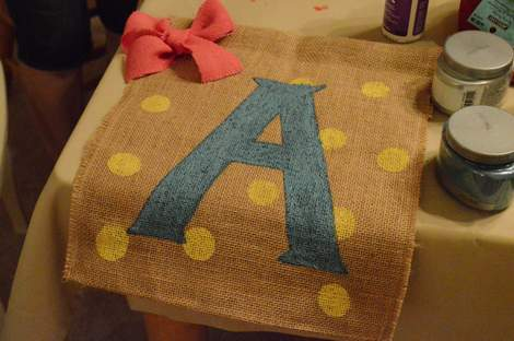 moms' night out pinterest craft party 010