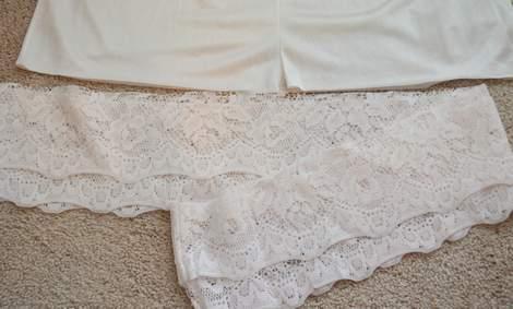 06 DIY ruffled lace slip skirt extender