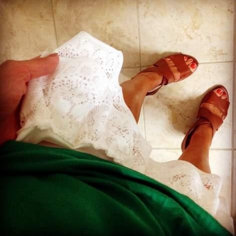 16 DIY ruffled lace slip skirt extender