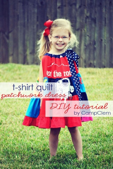 DIY t-shirt quilt patchwork dress tutorial