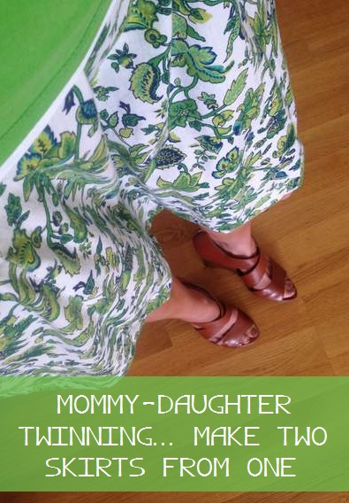 green skirt twinning refashion upcycle tutorial
