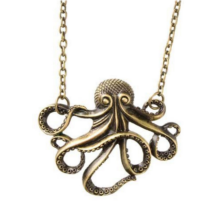 octopus necklace before