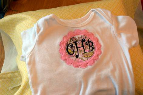 onesie pillowcase monogram applique 02