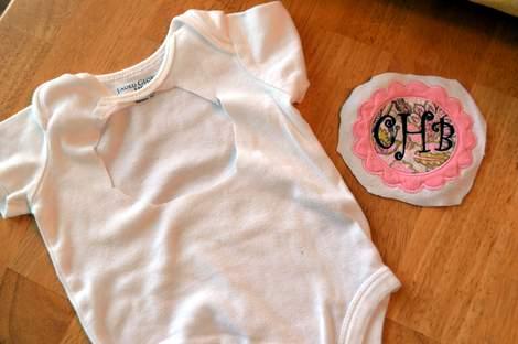 onesie pillowcase monogram applique 04