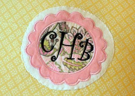 onesie pillowcase monogram applique 06