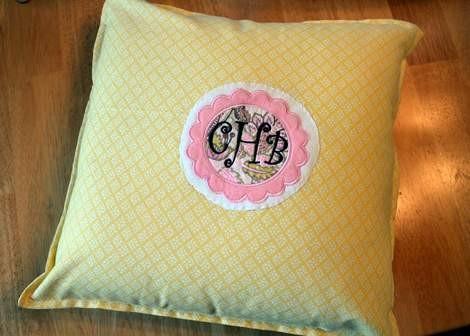 onesie pillowcase monogram applique 07
