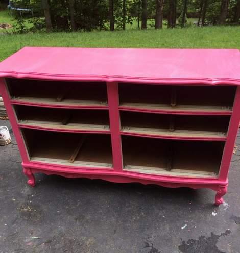 pink dresser makeover 02