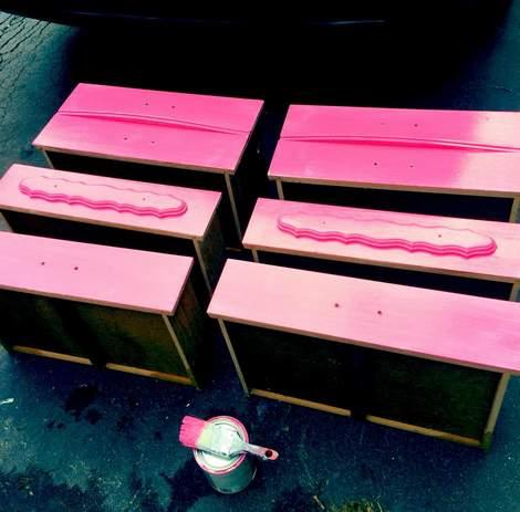 pink dresser makeover 03