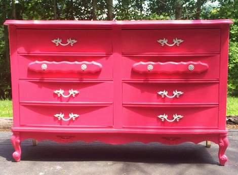 pink dresser makeover 04'
