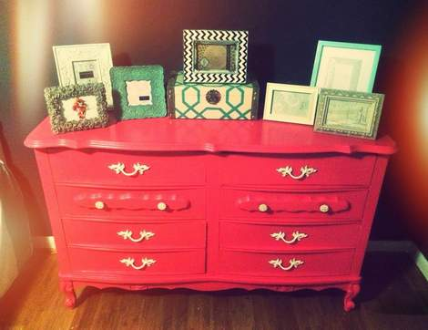 pink dresser makeover 05