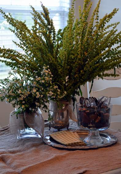 pinterest party weed arrangement tablescape 11