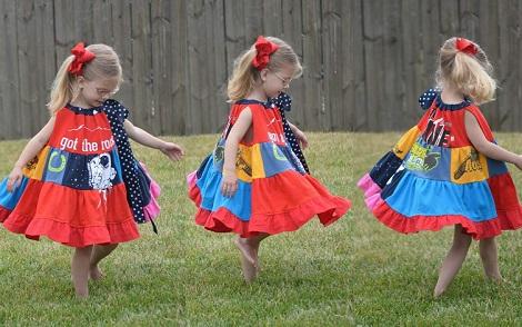 t-shirt quilt patchwork dress twirling 1