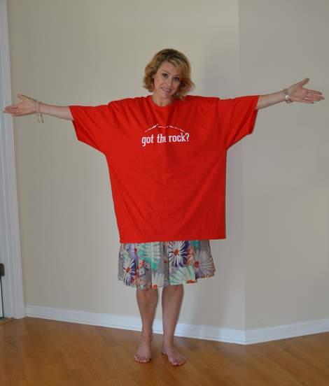 VBS shirt refashion t-shirt quilt patchwork maxi dress 01