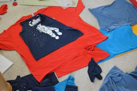 VBS shirt refashion t-shirt quilt patchwork maxi dress 03