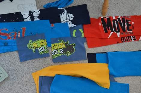 VBS shirt refashion t-shirt quilt patchwork maxi dress 04