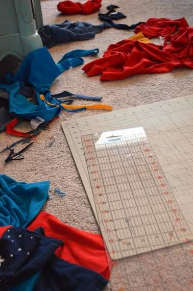 VBS shirt refashion t-shirt quilt patchwork maxi dress 05