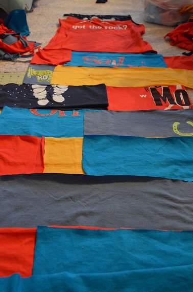 VBS shirt refashion t-shirt quilt patchwork maxi dress 06