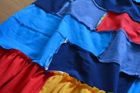 VBS shirt refashion t-shirt quilt patchwork maxi dress 09