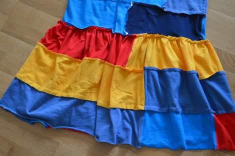 VBS shirt refashion t-shirt quilt patchwork maxi dress 12